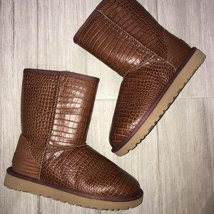 Ugg Boots - Brown Short Croco